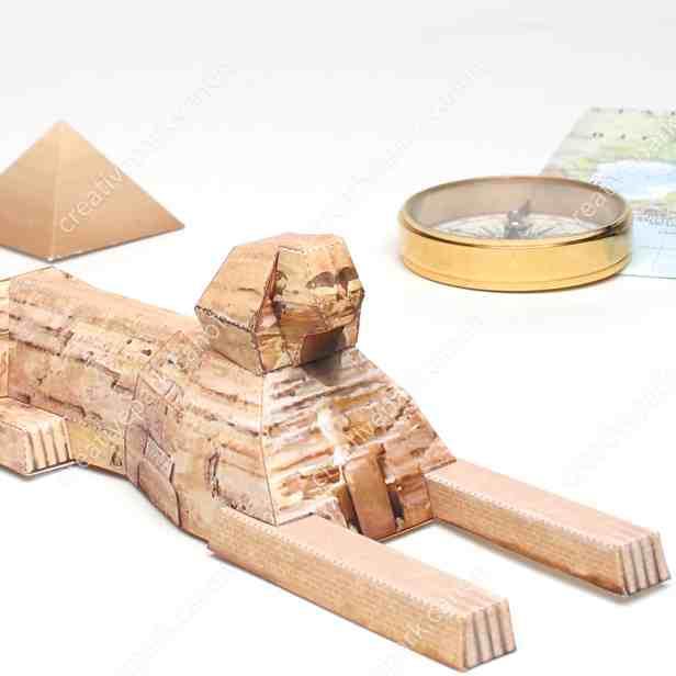Сфинкс, Египет Миниатюра, музей на столе, модель из бумаги