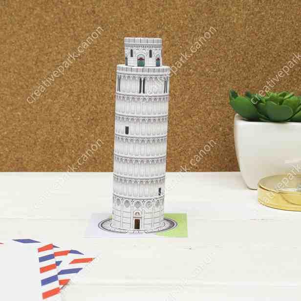 Пизанская башня, Италия Миниатюра, музей на столе, модель из бумаги