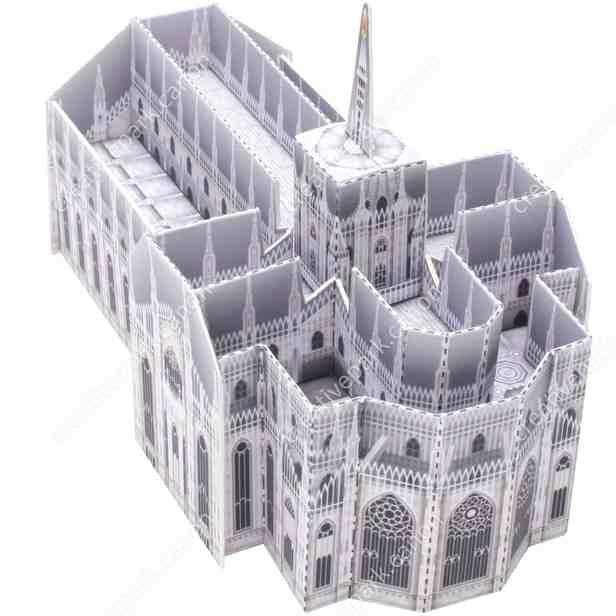 Миланский собор, Италия, Миниатюра, модель из бумаги, музей на столе