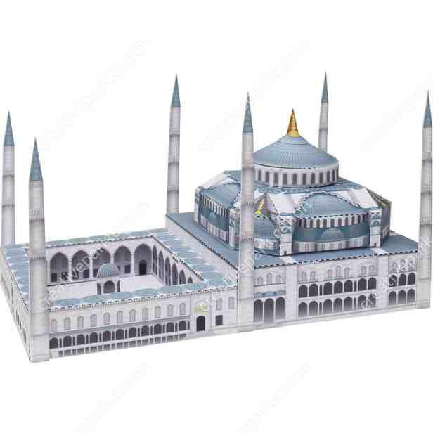 Голубая мечеть, Турция , музей на столе, модель из бумаги