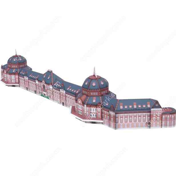 Станция Токио, Япония, музей на столе, модель из бумаги