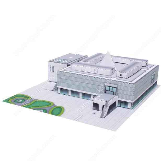 Национальный музей западного искусства, Япония, модель из бумаги, музей на столе