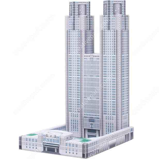 Здание Токийского муниципалитета, Япония Миниатюра? музей на столе, модель из бумаги