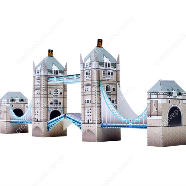 Тауэрский мост, Англия, модель из бумаги, музей на столе
