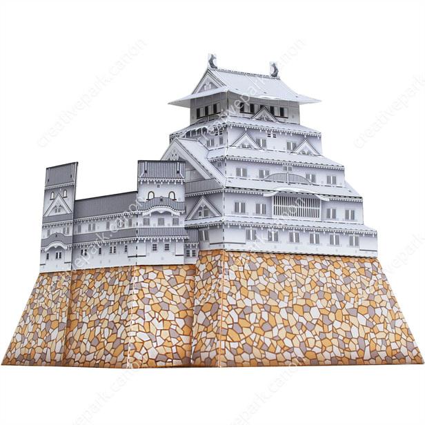 Замок Химэдзи, Япония, музей на столе, модель из бумаги