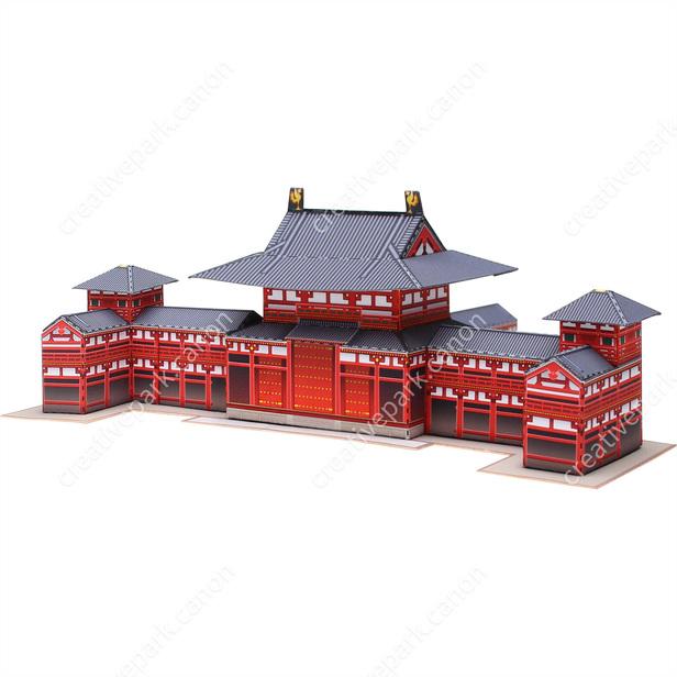 Павильон Феникса в храме Бёдо-ин, Япония , модель из бумаги, музей на столе