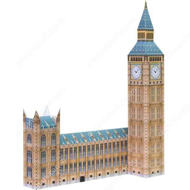 Биг Бен, Англия , модель из бумаги, музей на столе