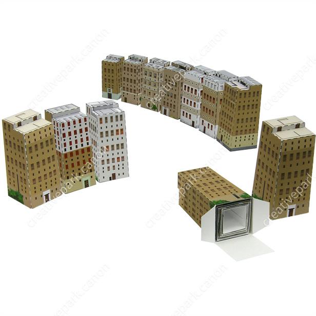 Миниатюрные города, модель из бумаги, музей на столе
