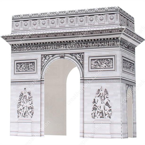 Триумфальная арка, Франция Музей на столе, Модель из бумаги