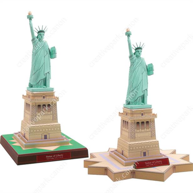 Статуя Свободы, США, модель из бумаги, музей на столе