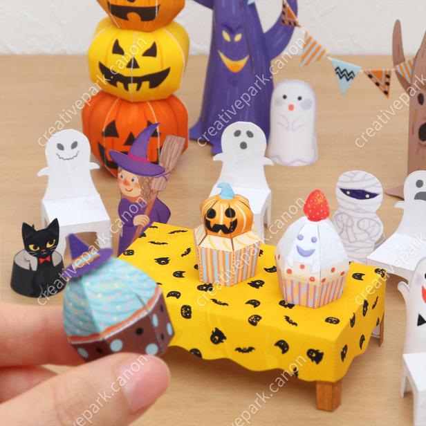 Мини-фигурки (Вечеринка на Хэллоуин), поделка из бумаги