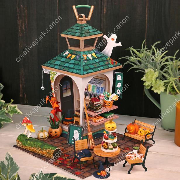 Миниатюрный мир , Хеллоуин рынок, модель из бумаги, музей на столе